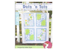 "Dots N Tots Quilt Pattern - 38 1/2"" x 46 1/2"" - Fat Quarter Friendly"