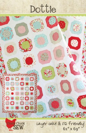 "Dottie Quilt Pattern by Cluck Cluck Sew - 61"" x 69"" - Layer Cake Friendly"