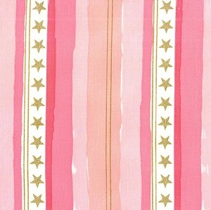 Magic Flannel Stars & Stripes - Pink by Sarah Jane for Michael Miller Fabrics yardage