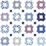 Feed Sacks: True Blue - FREE Mfg. Quilt Pattern - 68'' x 79'' - Pattern & featured fabric both by Linzee Kull McCray for Moda