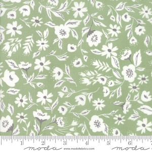 Garden Variety Floral Garden Bed - Grass - Lella Boutique for Moda Fabrics yardage