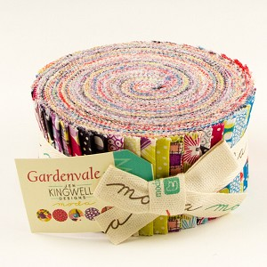 Gardenvale Jelly Roll includes 40 2 1/2'' strips from the collection - Jen Kingwell for Moda Fabrics