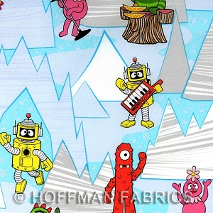Yo Gabba Gabba - Winter - Lt. Blue - Hoffman Fabrics yardage - This fabric is directional