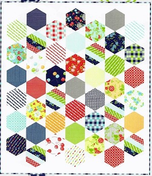 "Juggle Quilt Pattern - 42"" x 48"" - Thimble Blossom Patterns - Hexagon Friendly!!"