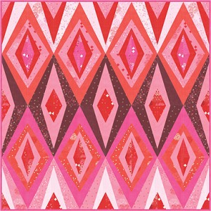 Bohemian Spark Quilt Kit includes the Bohemian Spark Pattern by Zen Chic and Just Red fabrics by Zen Chic for Moda Fabrics. You will need 4.25 yds (this includes a 5'' overage per side) of backing fabric.. Kit arrives in a Presentation Box. Please select an option from the Drop Down menu as to whether or not you would like the box with your order. If no option is selected, box will not be included. FREE gift included