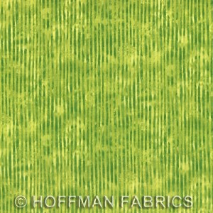 Skinny Stripe Blender - Mottled Bright Green - Hoffman Fabrics