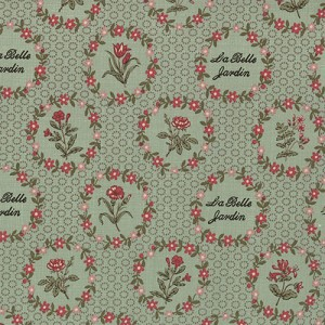 La Belle Fleur - La Belle Jardin (LaBelle Floral Garden) - French General for Moda Fabrics yardage - 1.25 yds remaining - sold as one piece