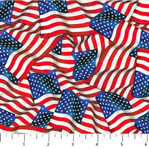 Liberty Ride All Over Flags by Greg Giordano for Northcott Fabrics yardage