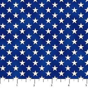 Liberty Ride Stars on Blue by Greg Giordano for Northcott Fabrics
