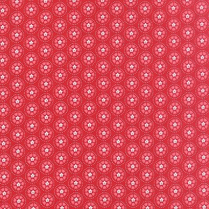 Lil Red Spinning Tulips - Red by Stacy Iest Hsu for Moda Fabrics yardage