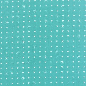 Lil Red Sweethearts - Turquoise by Stacy Iest Hsu for Moda Fabrics yardage