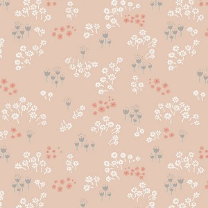 Littlest - Into the Rose Woods - Flowers on Peach - AGF Studio - Art Gallery Fabrics - 4.5 yds remain - sold as one piece