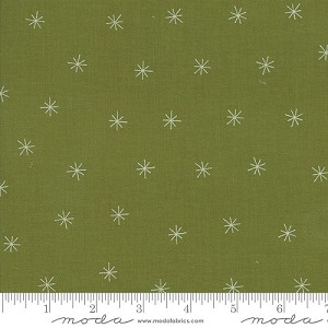 Merrily Snowy Stars - Holly by Gingiber for Moda Fabrics yardage