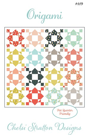 Origami Quilt Pattern by Chelsi Stratton Design - Fat Quarter Friendly - 81'' x 81'' - Ships February 2021 - Add your name to the Waiting List to be notified when this item is available.