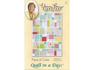 Piece of Cake Quilt Pattern by Eleanor Burns - Layer Cake Friendly!!