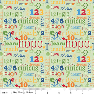 Pieces of Hope by Riley Blake Designs yardage - Fabric is Directional - 3.25 yds remaining - sold as one piece