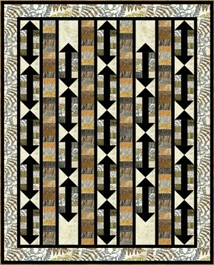 "This End Up Quilt Pattern - 56"" x 72"" - Picture shown uses Stone Strips -"
