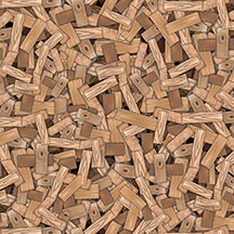 Building Up - Wood Pile - Brown -  by BellaLu Studios for South Sea Imports yardage -