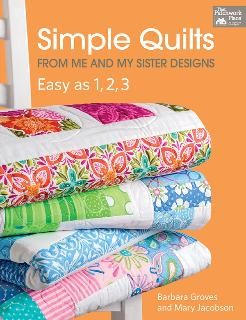 Simple Quilts Easy as 1,2,3 - Softcover Book by Me & My Sister Designs. Projects in this book can be completed quickly and easily using pre-cut fabrics!