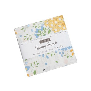 Spring Brook Charm Pack includes 42 5'' squares from the collection by Corey Yoder for Moda Fabrics