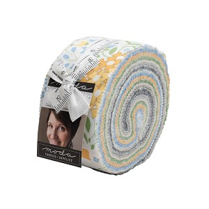 Spring Brook Jelly Roll includes 40 2 1/2'' strips from the collection (some duplicates) by Corey Yoder for Moda Fabrics