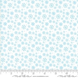Jolly Season Snowflakes - Snow by Abi Hall for Moda Fabrics